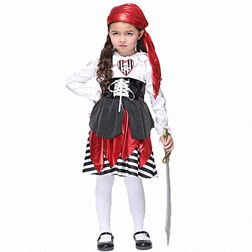 Ytwysj Costumes for Girls,Teenage Girls 2018 Halloween Cosplay Pirate Costume Fancy Party Dress Outfits]()