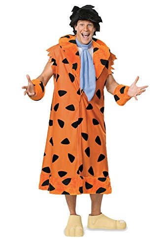[Mememall Fashion The Flintstones Fred Flintstone Plus Size Halloween Costume] (Madonna Costume Plus Size)