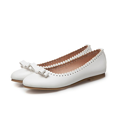Heel Shoes Women's Knot Sweet Ballet Bow SaraIris white1 Flat Decoration Low gEwqdXnz