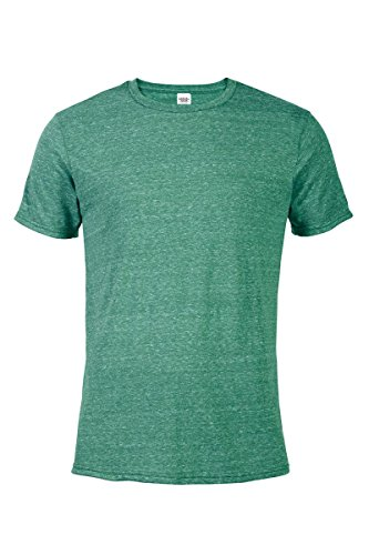 Casual Garb Men's Snow Heather Fitted T Shirt Short Sleeve Crew Neck T-Shirts for Men Kelly Large