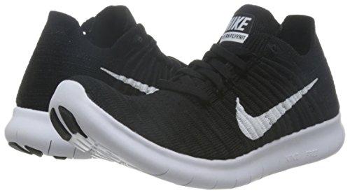 Corsa Nike weiß Nero Donna Wmns Rn Free Flyknit schwarz Scarpe Da q1Yf1vxr
