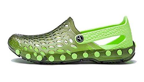 GLTER Hombres Loafers Zapatos Sandalias transpirables 2017 verano nuevos zapatos casuales Zapatos de gran tamaño Zuecos Green