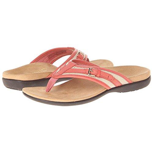 Orthaheel Vionic Marisa - Womens Leather Orthaheel Sandal Coral - 6