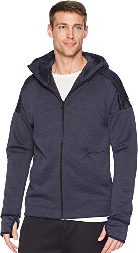 Legend Mens Sweatshirt - adidas Men's ZNE Hoodie Zne Heather/Legend Ink Medium