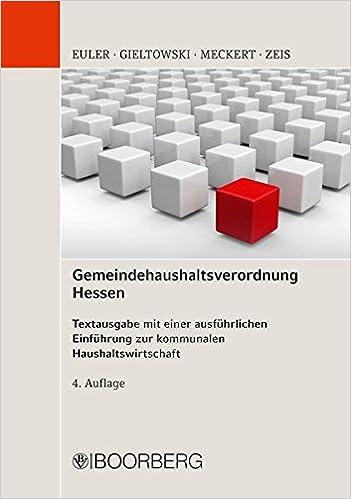 Gemeindehaushaltsverordnung Hessen Textausgabe Mit Einer