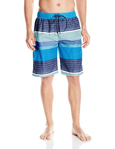 Kanu Surf Men's Barracuda Swim Trunks (Regular & Extended Sizes), Viper Navy, XX-Large