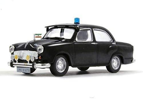 [해외]Hindustan Ambassador Indian Police 1958 Year 143 Scale Black Diecast Model Car / Hindustan Ambassador Indian Police 1958 Year 143 Scale Black Diecast Model Car