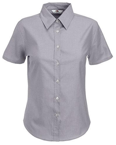 Fruit of the Loom Ss110m, Camisa Para Mujer gris