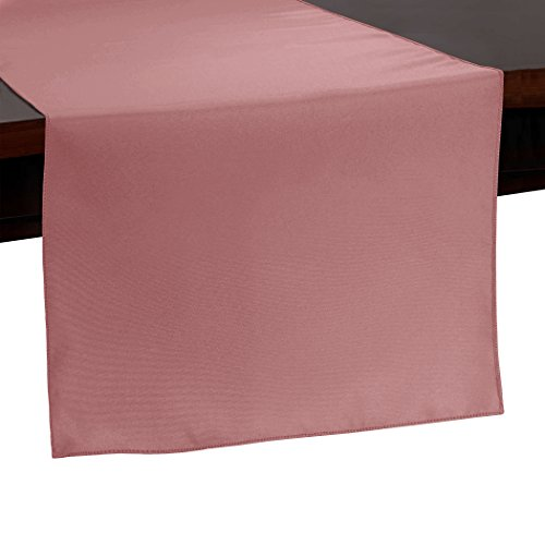 Ultimate Textile -10 Pack- 14 x 108-Inch Polyester Table Runner, Dusty Rose Pink