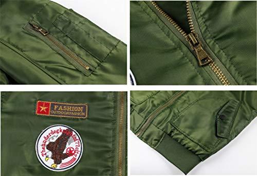 Homme Hiver Chaud Casual Manteau Armée Aviateur Bomber Militaire Blouson Jacket Veste Homme à Capuche Amovible,L… 7