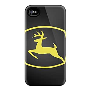 Iphone 4/4s ULO11641dTTf Custom High-definition John Deere Pattern High Quality Hard Cell-phone Cases -SherriFakhry