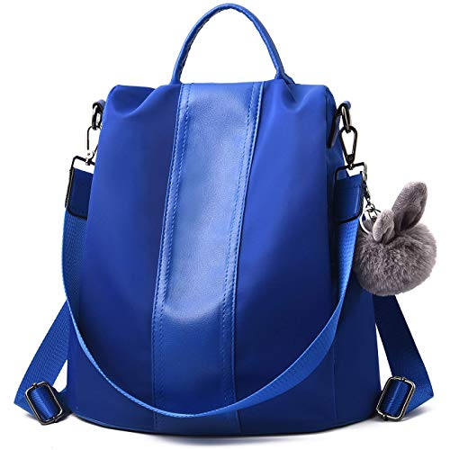 Charmore Women Backpack Purse Waterproof Nylon Schoolbags Anti-theft Rucksack Shoulder - Pull Cell Charm Phone Zipper