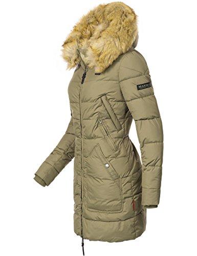 extra xxl sintetici colori verde 9 Xs Capelli cappuccio da lungo Cappotto donna con Knuddelmaus Marikoo oliva invernale 6wqz55