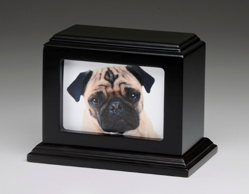 Pet Urn Peaceful Pet Memorial Keepsake Urn,Photo Box Pet Cremation Urn,Dog Urn,Cat Urn ,Small Animal Urn, Size,Large, Color,Mahogany, 50 cu.in