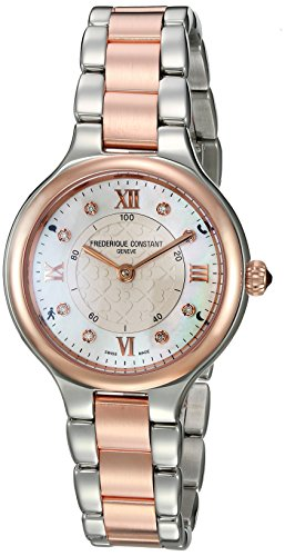 Frederique Constant Women's 'Horological Smart' Swiss Quartz Stainless Steel Casual Watch, Color:Two Tone (Model: FC-281WHD3ER2B)