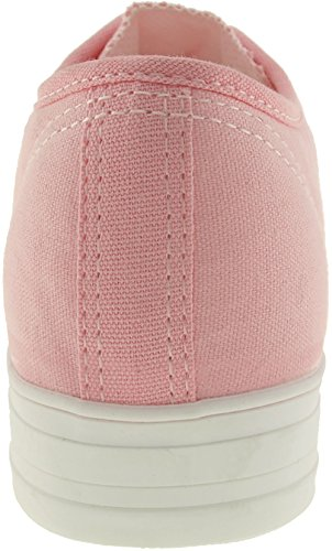 maxstar C16-holes Casual Leinwand Low Sneakers Schuhe C1-1-Pink