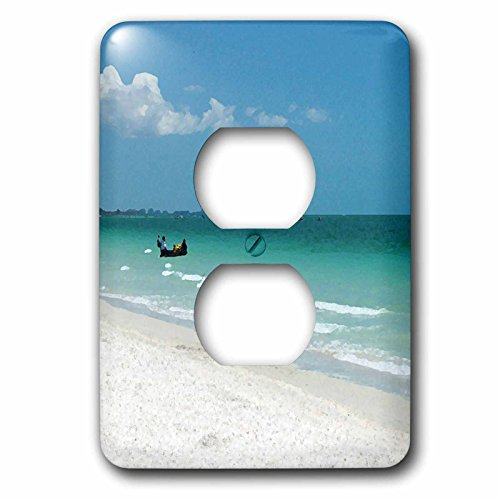 Florene Beach And Sunset Art - Image of Abstract Naples Florida Beach And Boat - Light Switch Covers - 2 plug outlet cover - Naples Florida Outlets