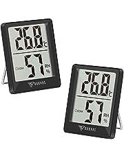 DOQAUS Digitale Thermo-hygrometer, Binnenthermometer, Hygrometer, Temperatuur en Luchtvochtigheidsmeter met Hoge Nauwkeurigheid, voor Interieur, Babykamer, Woonkamer, Kantoor