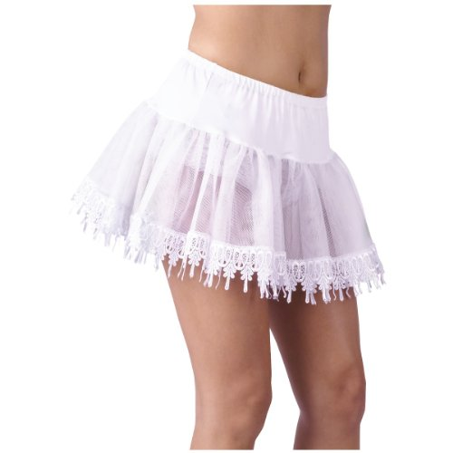 (Teardrop Lace Petticoat Adult Costume Accessory White - One Size)