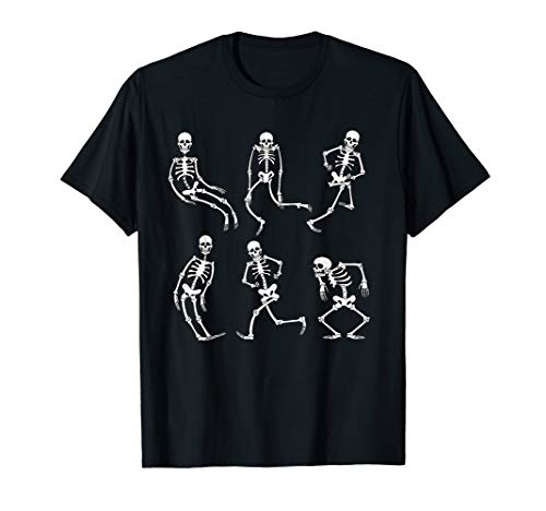 Vintage Skeletons Cartoon Dancing T-Shirt Halloween Party