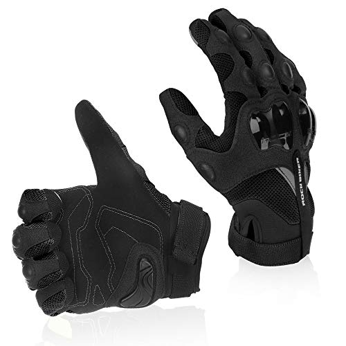 Motorcycle Riding Gloves Breathable Motocross Racing Glove (XL, Black)