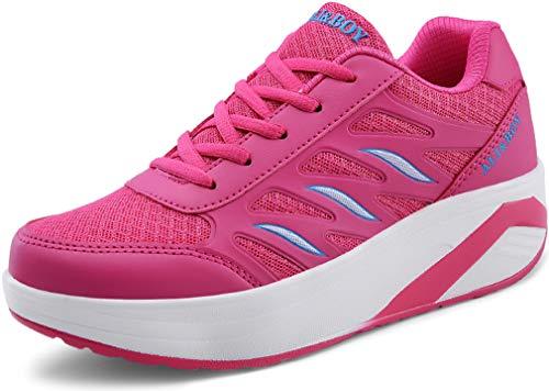 Plateforme Solshine Femmes Baskets De Extrieur Sport Baskets Femmes Pour Course Chaussures Roses 0W7B1qn