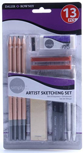DALER-ROWNEY/FILA CO 644200000 SIMPLY ARTIST SKETCHING PENCIL SET 13PCS from DALER-ROWNEY/FILA CO