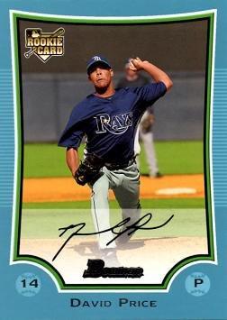 2009 Bowman Blue 213 David Price Baseball Rookie Card Only 500