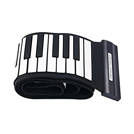 Amazon.com: Konix 88 Keys USB Professional Rubberized Flexible Silicon Black and White Roll-up Piano: Musical Instruments