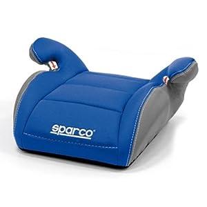 Rehausseur siége auto groupe 2-3 enfants Booster Sparco bleu / gris matelassé 3 cm