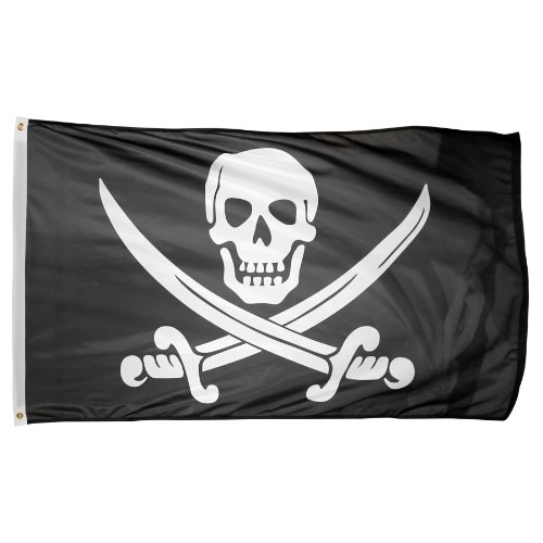 US Flag Store Printed Polyester Pirate Jack Rackham Flag, 3 by 5-Feet
