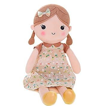 Amazon Com Gloveleya Spring Girl Wearing Brown Floral Dress Stuffed