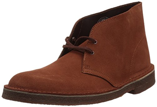 (Clarks Men's Desert Boot Boot, Mahogany Suede, 10 Medium)