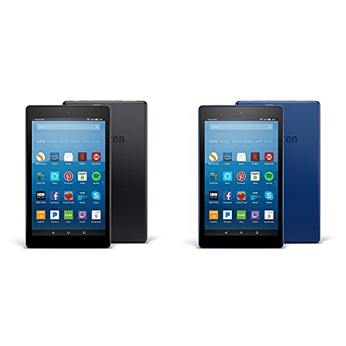 Fire HD 8 2-pack, 16GB - Includes Special Offers (Black/Marine Blue)