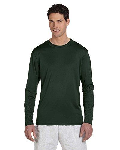 Champion Men's Long Sleeve Double Dry Performance T-Shirt, Dark Green, XX-Large ()