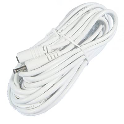 Hanvex HDCA20W 20 ft 1.3mm x 3.5mm DC Power Adapter Extension Cable, 20AWG, White