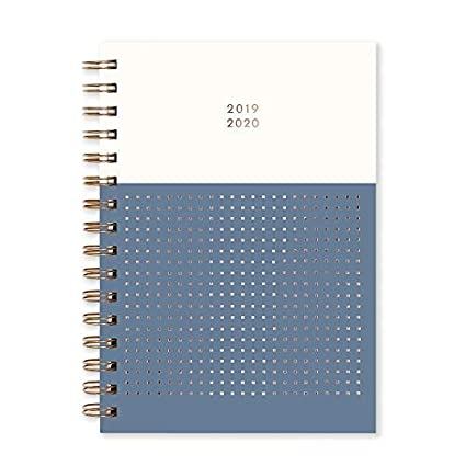 Matilda Myres 2019-20 - Agenda semanal (tamaño A5), color oro rosa, color Grey Diary