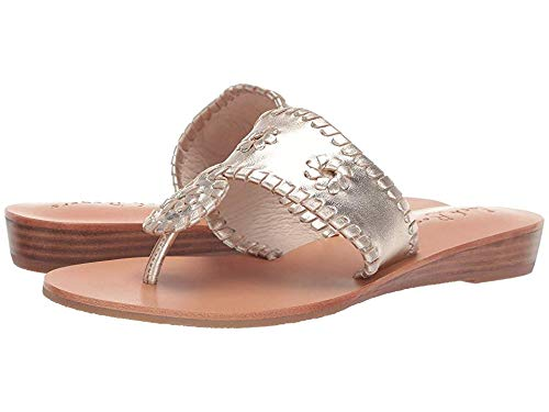 Jack Rogers Women's Jacks Demi Wedge Platinum/Platinum, used for sale  Delivered anywhere in USA