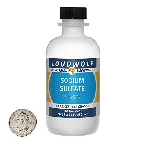 Sodium Sulfate / Fine Powder / 4 Ounces / 99+% Pure / Food Grade / SHIPS FAST FROM USA ()
