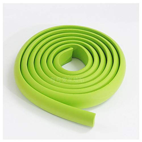 417wvbI0UDL ZHONGJIUYUAN 2 Piece 2M (Green) Children Protection Table Guard Strip Baby Safety Products Glass Edge Furniture Horror Crash Bar Corner Foam Bumper    Features: Made from qualified material, non-toxic and environmentally friendly. Extra thick premium high density edge guard for high protections. Double-sided tape can be firmly adhered to the desktop, protects baby from accident hit. Suitable to most surfaces, such as wood, glass, granite, ceramic, metal and plastic. Many colors available to match your furniture.
