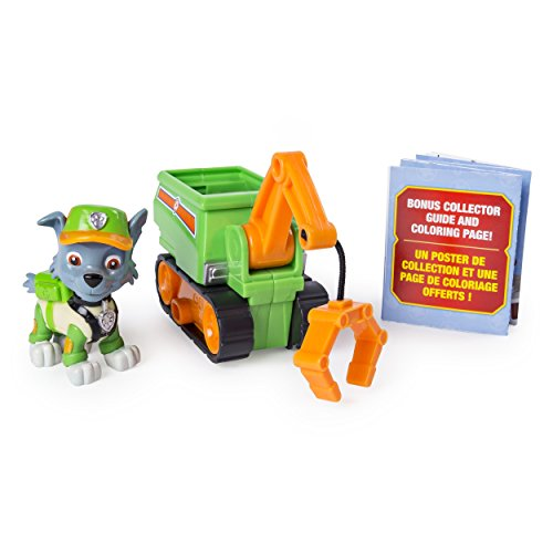 PAW Patrol Ultimate Rescue, Rocky's Mini Crane Cart with Collectible Figure for Ages 3 and Up
