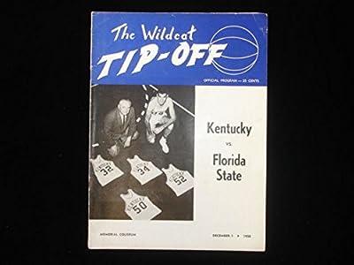 December 1, 1958 U of Kentucky vs Florida State Basketball Program Ex+