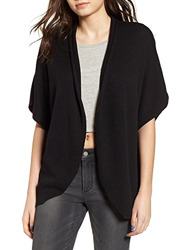 Ruffle Short Sleeve Cardigan (Seraih Womens Ruffle Short Sleeve Open Front Cardigans Flowy Draped Knitted Sweaters Coats)