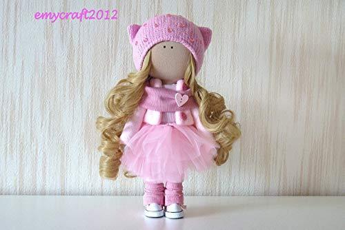 Fabric Doll Handmade Doll Textile Doll Rag Doll Decoration Doll Interior