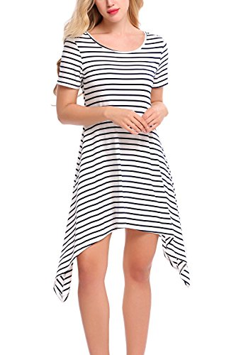 Bluetime Womens Striped Sleeve Handkerchief product image