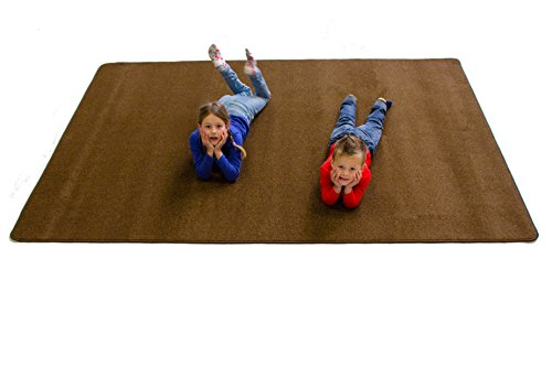 - Learning Carpets Solid Bark Rectangular Rug, Small/5'10