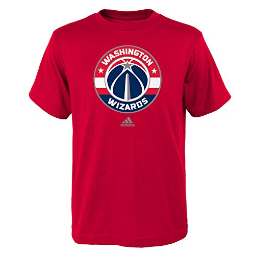fan products of NBA Washington Wizards Boys Youth Full Primary Logo Short Sleeve Tee, Medium (10-12), Red