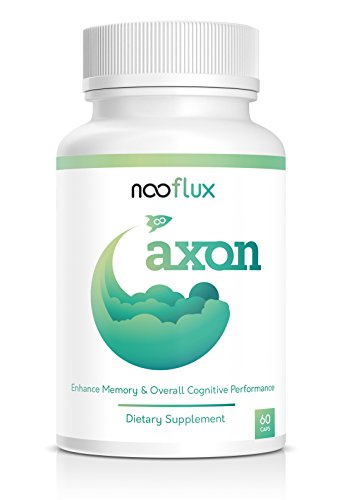 Brain Support Supplement - Enhance Memory & Brain Function - Nootropics w/Adaptogens & Plant Based Vitamins - Lions Mane Bacopa Monnieri Citicoline Ginkgo Biloba - Axon by Nooflux