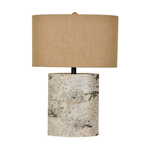 Metal Table Lamps Crestview Collection 24.5 Inches Tall Birch Wood Table Lamp 10 X 24.5 X 17 Inches Brown
