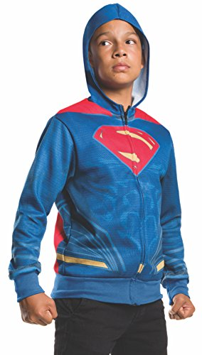 Rubie's Costume Batman v Superman: Dawn of Justice Superman Child Hoodie, Medium (Superman Costume For Child)